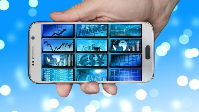 You can trade from your smartphone also now