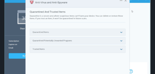Explore the usage of McAfee antivirus